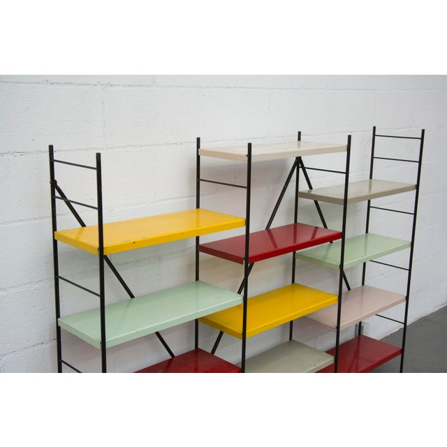 Image of Multi-Colored Three Section Shelving Unit