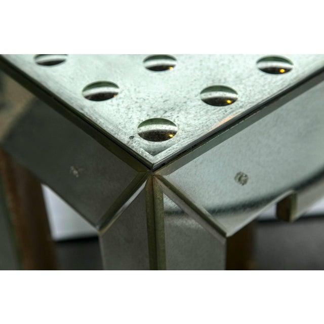 Mirrored Bullseye Art Deco Side Tables - Pair - Image 3 of 5