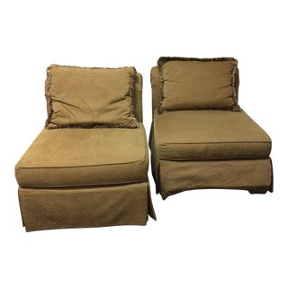 Beige Lexington Chairs - A Pair
