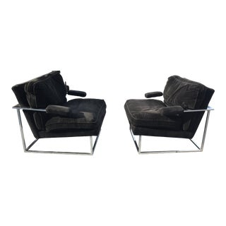 Lounge Chairs, Milo Baughman Style - Pair