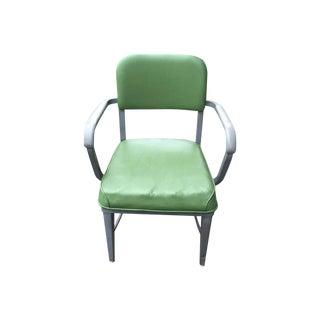 Mid-Century Green Vinyl Industrial Chair