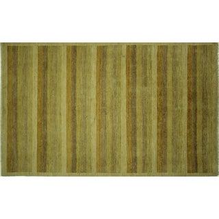 "Tan Super Gabbeh Oriental Wool Rug - 6'5"" x 10'4"""
