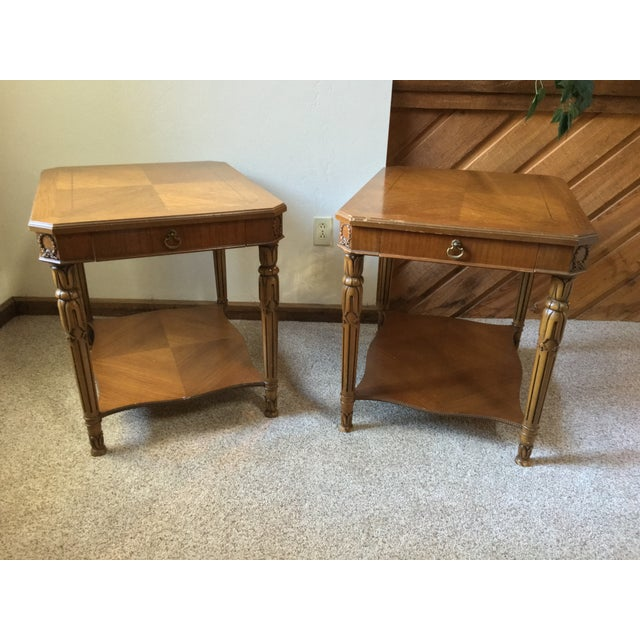 Image of 1950S Weiman Side End Tables - Pair