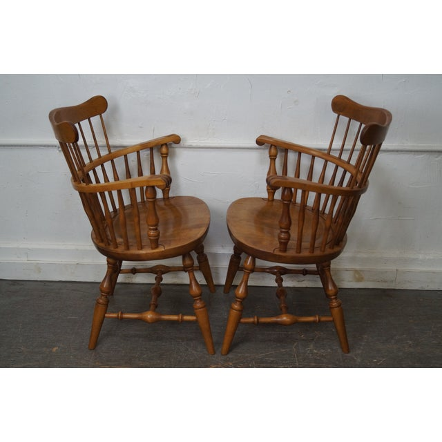 Ethan Allen Nutmeg Solid Maple Windsor Style Dining Chairs ...
