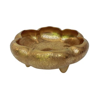 22k Gold Porcelain Lotus Bowl