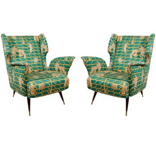 PAIR OF GIO PONTI CLUB CHAIRS
