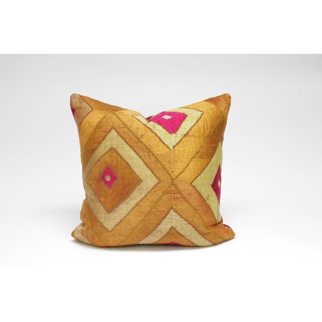 Image of Majestic Bagh Phulkari Pillow