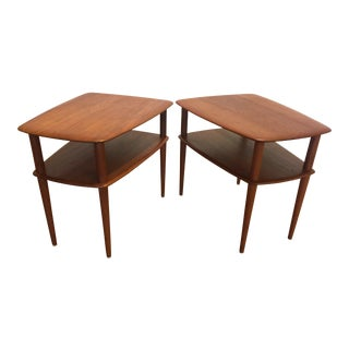 France & Sons Danish Teak End Tables - A Pair