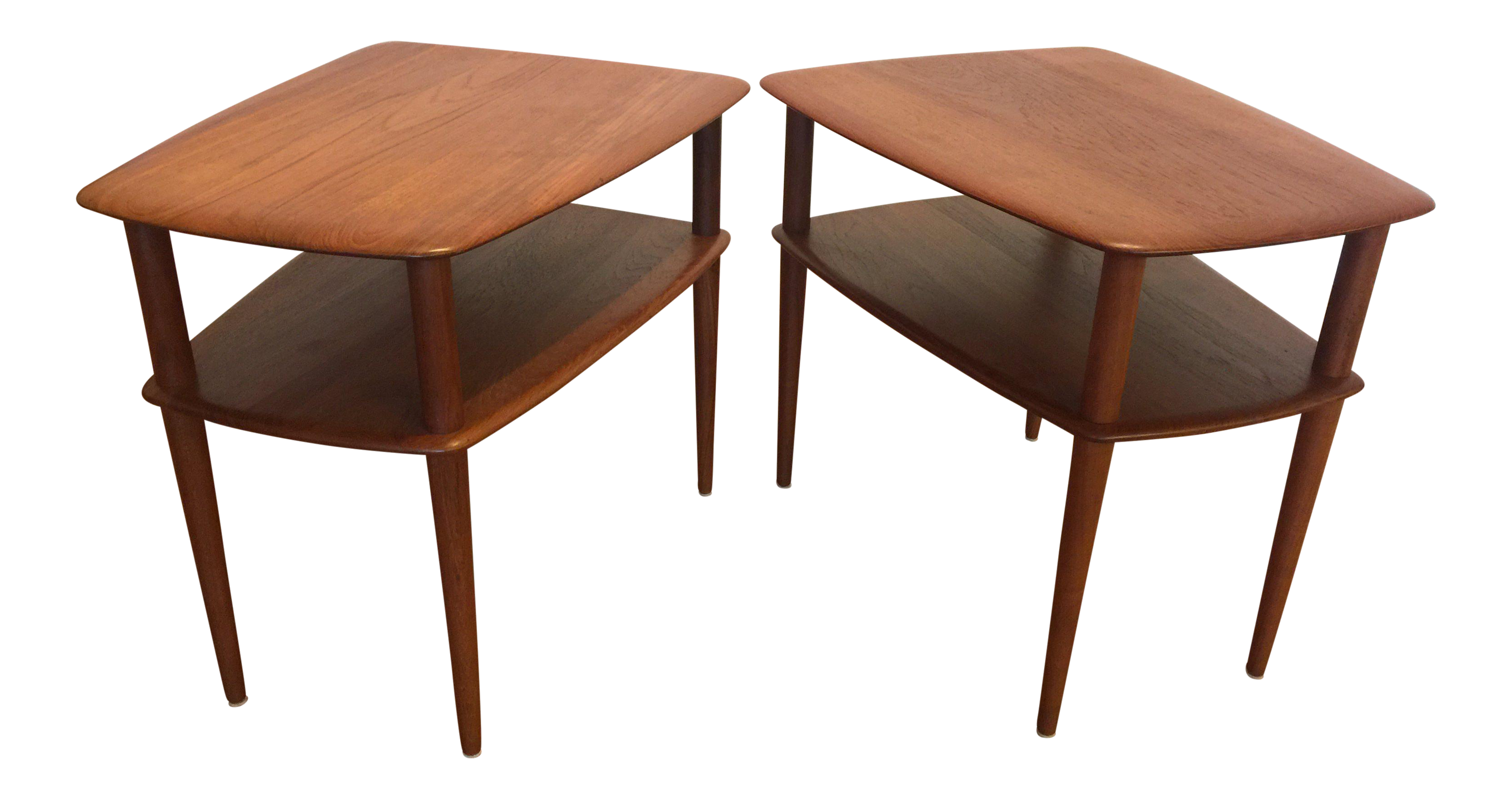 Good France U0026 Sons Danish Teak End Tables   A Pair