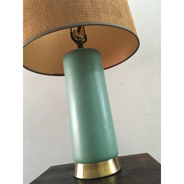 Mid-Century Turquoise Ceramic Table Lamp - Image 4 of 8