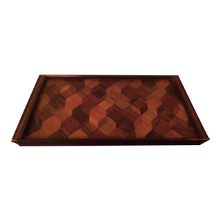 Don Shoemaker Parquetry Serving Tray