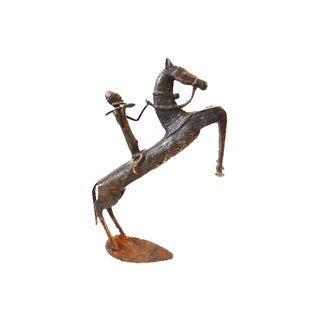 African LG Dogon Bronze Horseman Gold Weight Mali