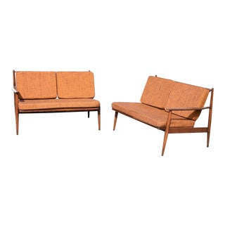 Mid Century Sofa Set - Pair