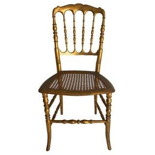 Vintage Chiavari Style Gold Chair