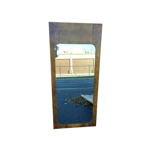 Milo Baughman for Lane Burled Olive Wood Mirror - Image 2 of 4