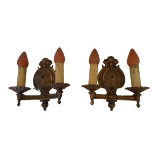 Revival Spanish Wall Sconce Lamp- a Pair