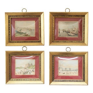 Hand-Colored Seaside Prints - Set of 4