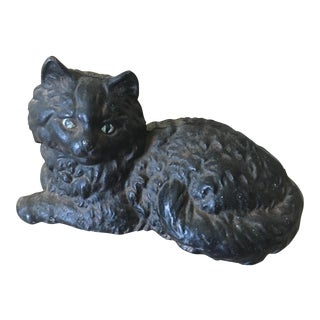 Antique Hubley Cast Iron Persian Cat Doorstop
