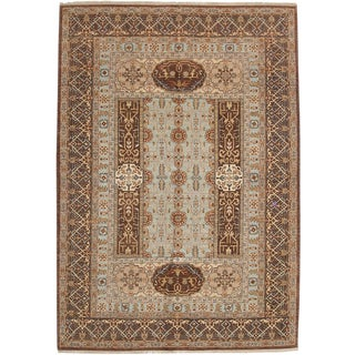 """Oushak, Hand Knotted Area Rug - 6'2"""" X 8'10"""""""