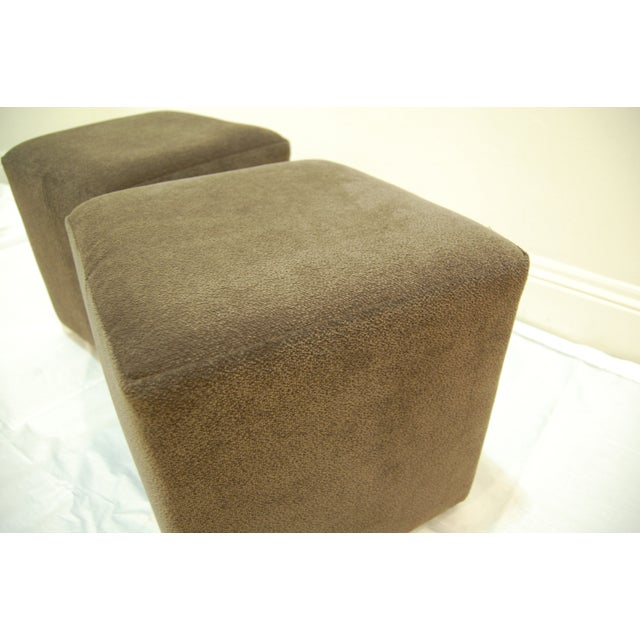 Mitchell Gold + Bob William Cube Ottomans - Image 3 of 5
