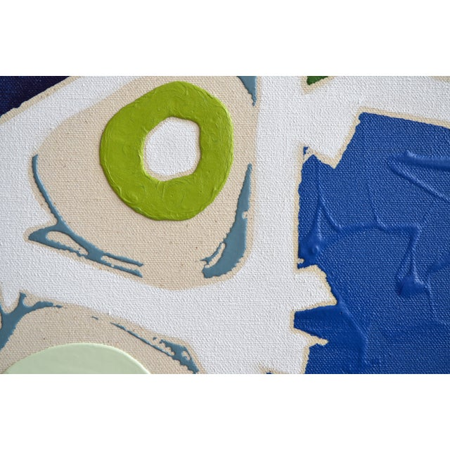 Blue & Green Abstract Painting, Brushless #6 - Image 3 of 4