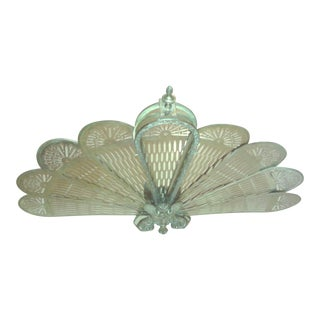 Vintage Winged Griffin Fireplace Screen