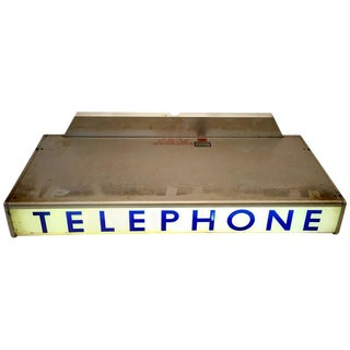 1930s Western Electrical Co. Telephone Booth Light Box Sign