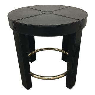 New Maitland-Smith Embossed Crocodile Occasional Table