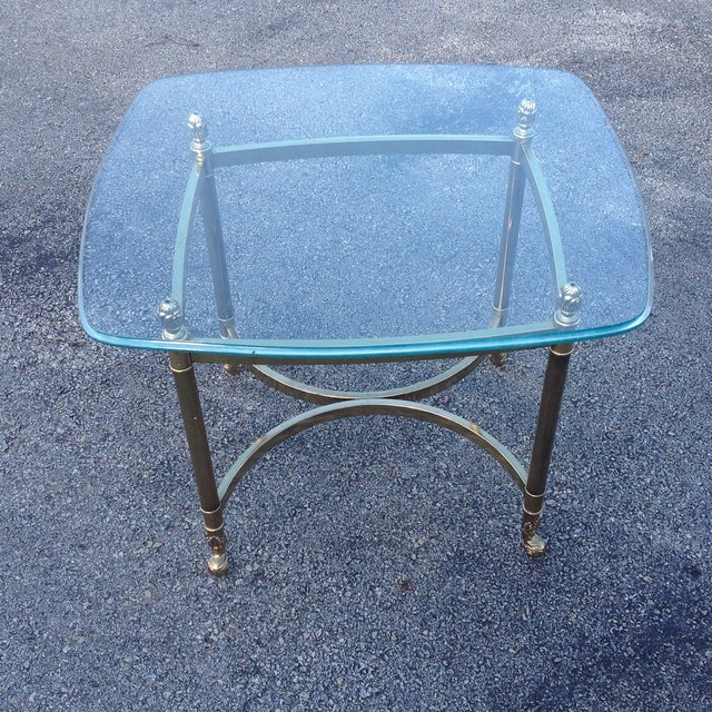 Brass Labarge Hollywood Regency Side Tables a Pair - Image 6 of 6