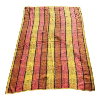 Mid-Century Colorful Striped Throw Blanket