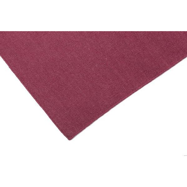 Aelfie Flatwoven Dhhurie Solid Raspberry Rug - 8′ × 10′ - Image 2 of 3