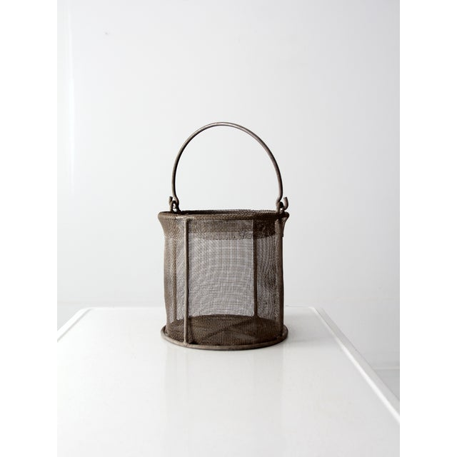 Vintage Wire Mesh Bucket With Handle - Image 2 of 8