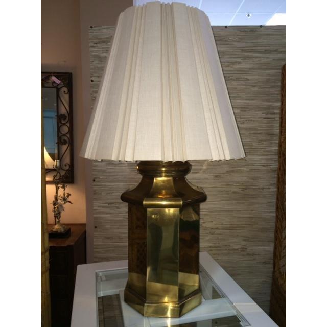 Image of Vintage Large Brass Lamp