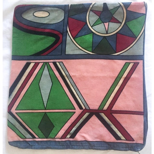 Vintage Pucci Style Velvet Throw Pillow Cover - Image 3 of 9