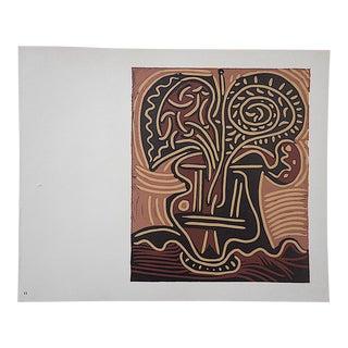 """Vintage Picasso Lithograph-""""La Vase De Fleurs"""""""