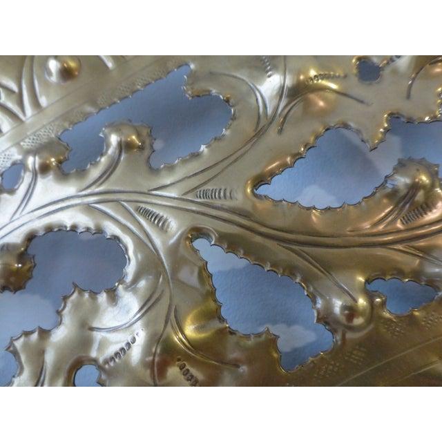 Italian Pierced Flower Brass Metal Wall Art - Image 6 of 7