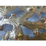 Image of Italian Pierced Flower Brass Metal Wall Art