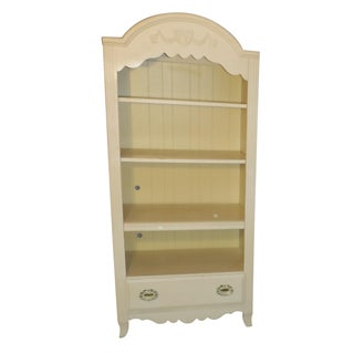 Two Tone Carved and Painted Entertainment Center