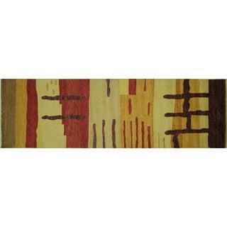"New Wool Kashkuli Gabbeh Rug - 3'1"" x 9'10"""