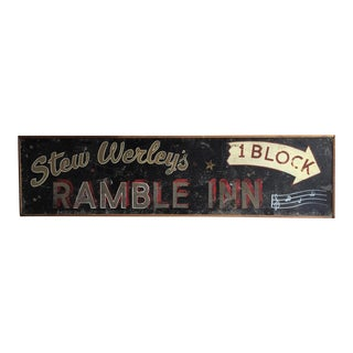 Vintage Ramble Inn Metal Motel Sign