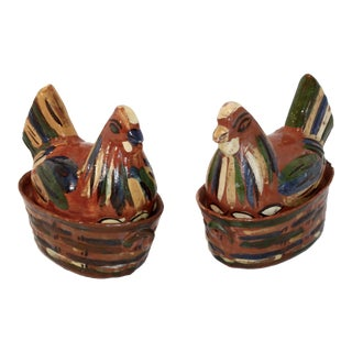 Mid-Century Mexican Chicken Boxes - A Pair