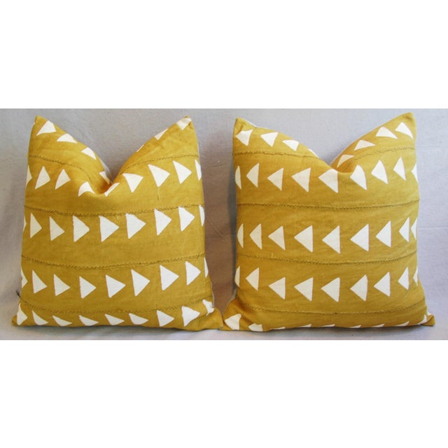 Boho Chic African Textile Pillows - A Pair - Image 5 of 10