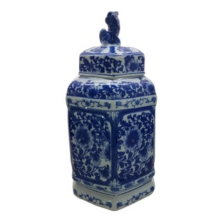 Chinoiserie Ginger Jar With Foo Dog