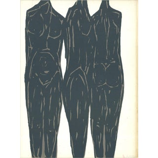 Rodolphe Raoul Ubac, Trois Personnages, 1966 Lithograph