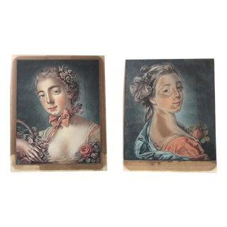 Francois Boucher 18th C. Engravings - A Pair