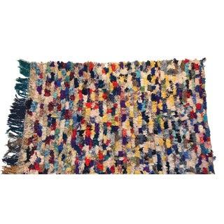 """Vintage Boucherouite Carpet - 5'8"""" X 4'"""