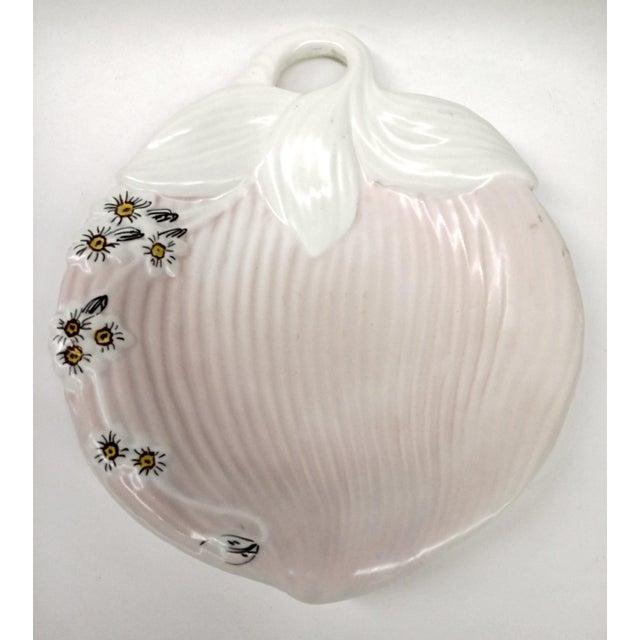 Image of Mid-Century Pink & White Trinket Dish