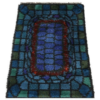 "Swedish Rya Rug ""stained glass"""