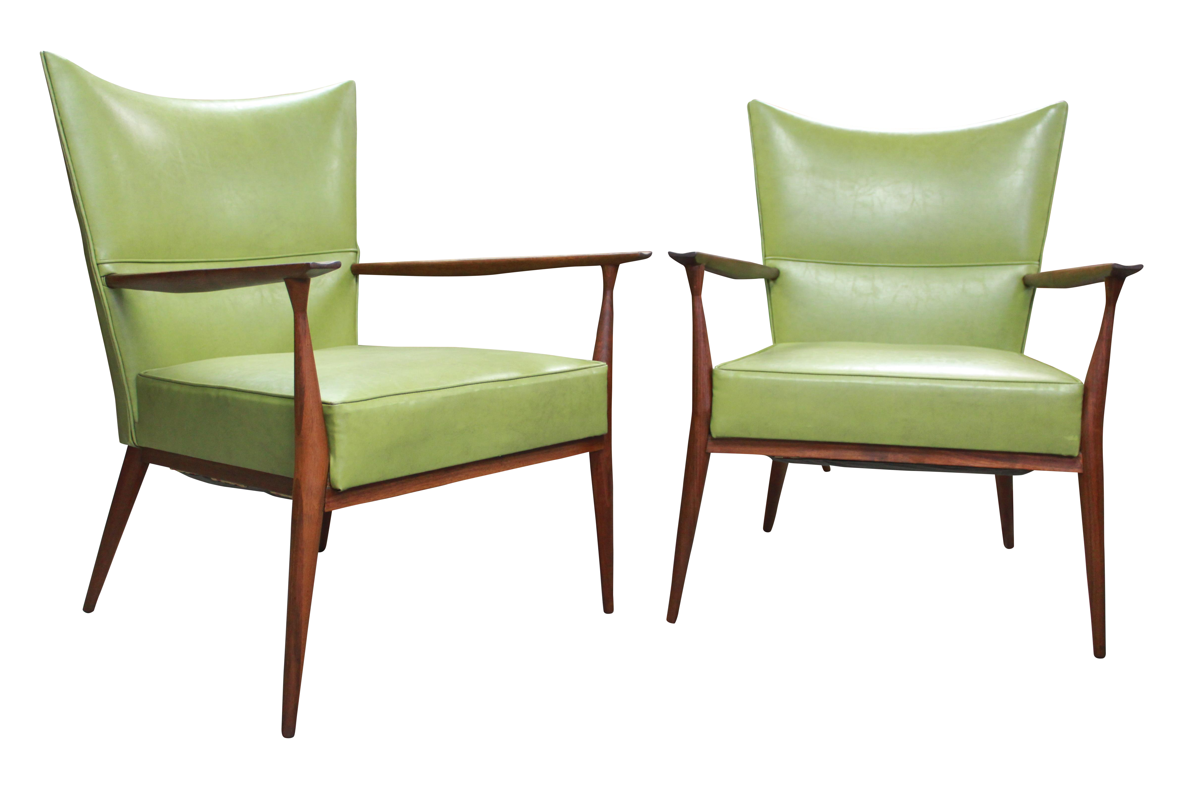 Paul McCobb for Directional Lounge Chairs A Pair