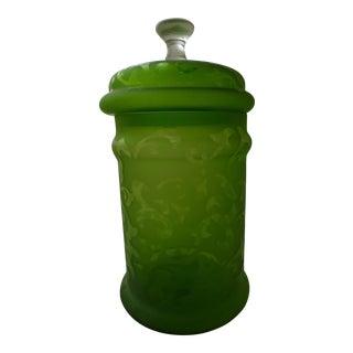 Antique-Style Glass Biscotti Jar